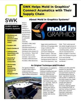 SWK Acumatica manufacturing Mold In Graphics AZ